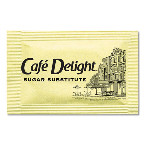 Café Delight Yellow Sweetener Packets, 0.08 g Packet, 2000 Packets/Box