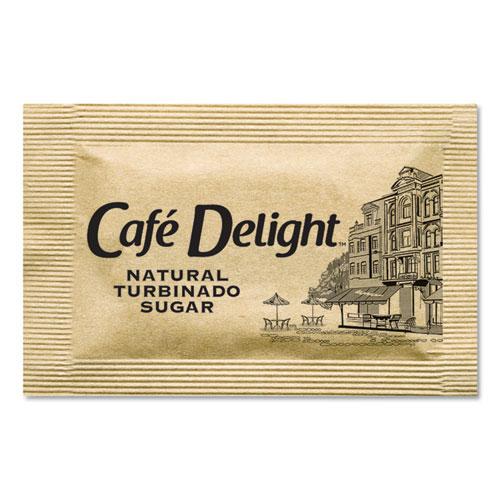 Café Delight Raw Turbinado Sugar Packets, 2.8 g Packet, 2000 Packets/Box