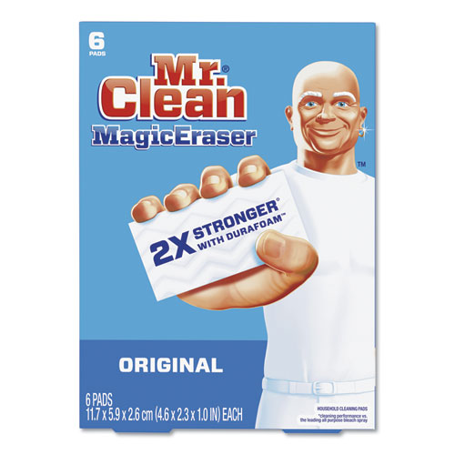 Magic Eraser, 2 3/10 x 4 3/5 x 1, White, 6/Pack