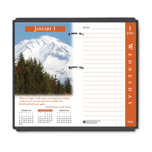 Earthscapes Desk Calendar Refill, 3 1/2 x 6, 2020 | by Plexsupply