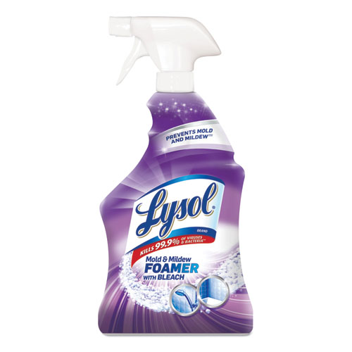 LYSOL® Brand Mold and Mildew Remover with Bleach, 32 oz Spray Bottle, 12/Carton