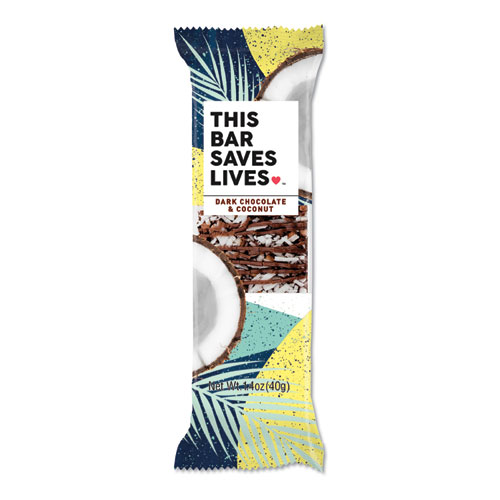 THIS BAR SAVES LIVES™ Snackbars, Dark Chocolate and Cherry, 1.4 oz, 12/Box