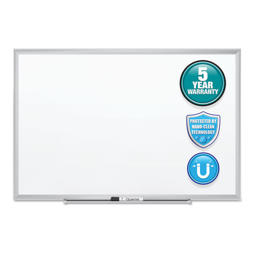 Classic Series Nano-Clean Dry Erase Board, 72 x 48, Silver Frame | by Plexsupply