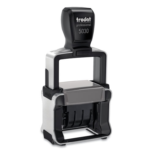 Trodat Professional Stamp, Dater, Self-Inking, 1 5/8 x 3/8, Black | by Plexsupply