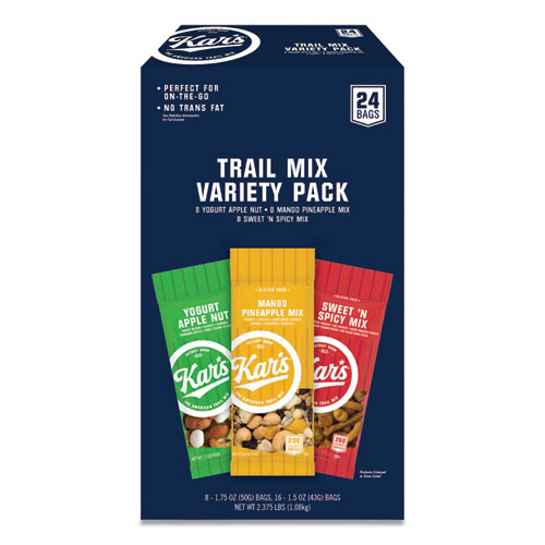Trail Mix Variety Pack, Assorted Flavors, 24 Packets/Box
