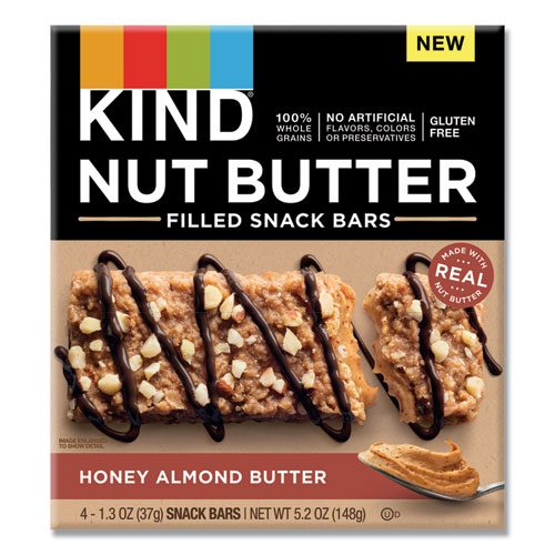 KIND Nut Butter Filled Snack Bars, Chocolate Peanut Butter, 1.3 oz, 4/Pack