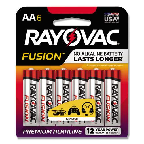 Rayovac® Alkaline High Energy Batteries, AA, 6/Pk