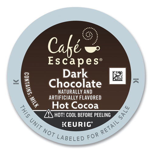 Caf Escapes Dark Chocolate Hot Cocoa K-Cups, 24/Box