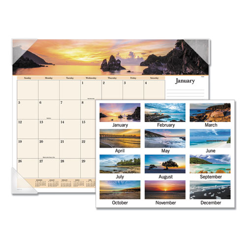 Images of the Sea Monthly Desk Pad Calendar, 22 x 17, 2020 | by Plexsupply