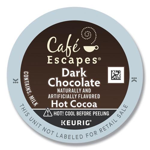 Dark Chocolate Hot Cocoa K-Cups, 24/Box, 4 Box/Carton