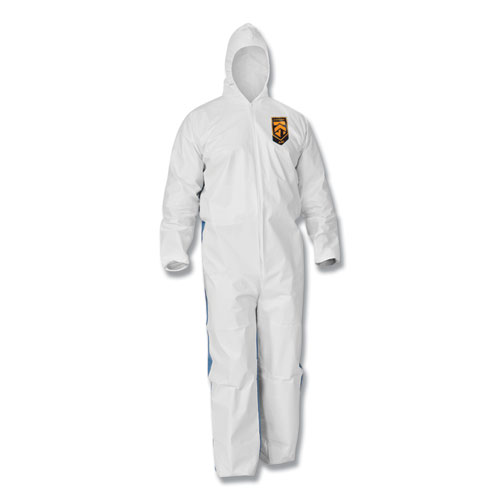 A35 Coveralls, Hooded, Large, White, 25/Carton