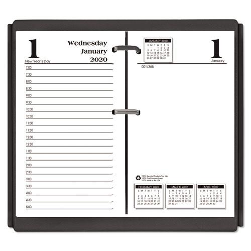 Economy Daily Desk Calendar Refill, 3 1/2 x 6, 2020