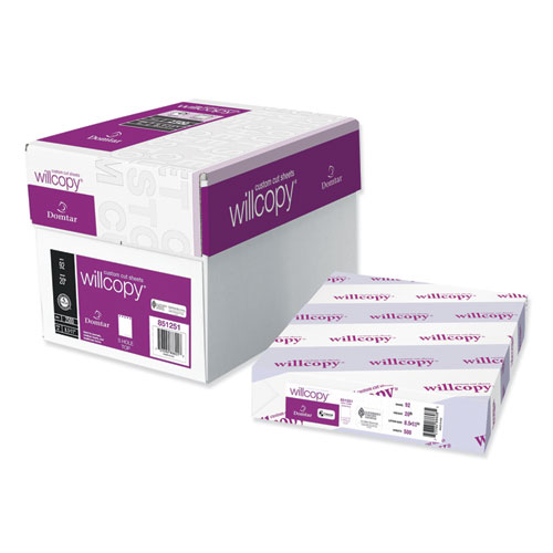 Custom Cut-Sheet Copy Paper, 92 Bright, 20lb, 8.5 x 11, White, 500 Sheets/Ream, 5 Reams/Carton | by Plexsupply