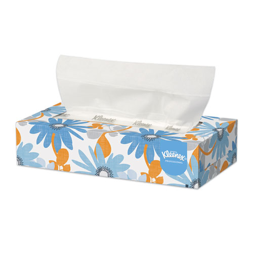 Kleenex® White Facial Tissue, 2-Ply, 125/Box, 12/Carton