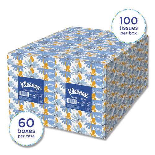 Kleenex® White Facial Tissue, 2-Ply, White, 100/Box, 10 Bx/Bundle, 6 Bundles/Carton