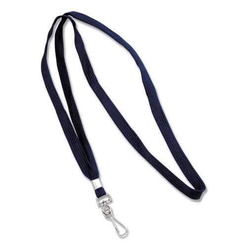 Deluxe Lanyards, J-Hook Style, 36 Long, Blue, 24/Box