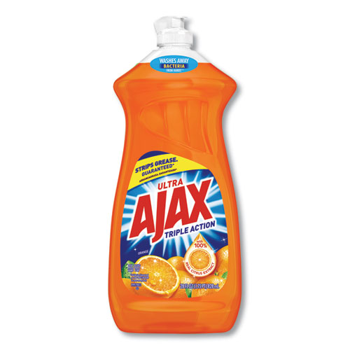 Ajax® Dish Detergent, Liquid, Antibacterial, Orange, 52 oz, Bottle, 6/Carton