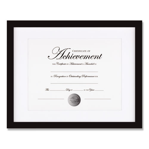 Wood Gallery Frame with Beveled Mat, 11 x 14, Black