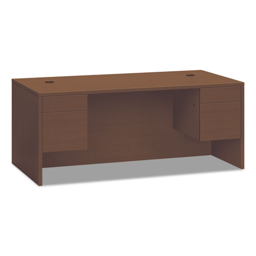 10500 Series 3/4 Height Double Pedestal Desk, 72w x 36d x 29.5h, Shaker Cherry