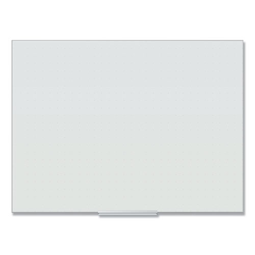 Floating Glass Ghost Grid Dry Erase Board, 48 x 36, White
