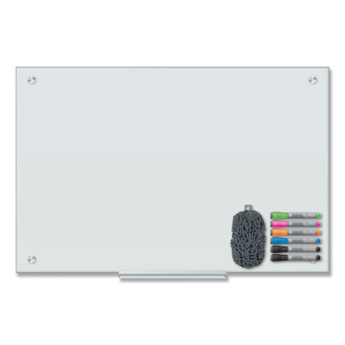 Magnetic Glass Dry Erase Board Value Pack, 36 x 24, White
