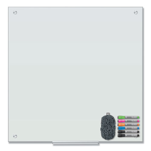 Magnetic Glass Dry Erase Board Value Pack, 36 x 36, White