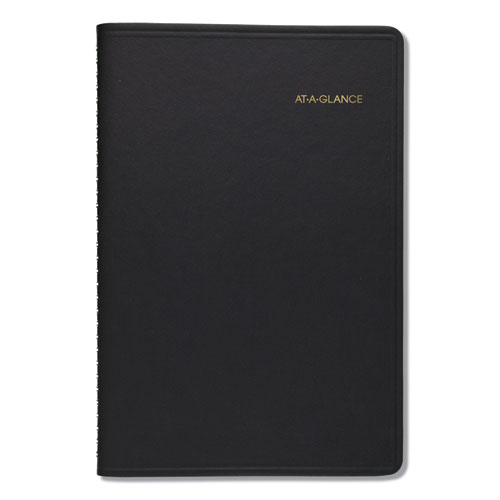 Daily Appointment Book with 15-Minute Appointments, 8 x 4 7/8, Black, 2020 | by Plexsupply
