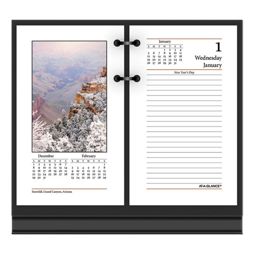 Photographic Desk Calendar Refill, 3.5 x 6, 2021