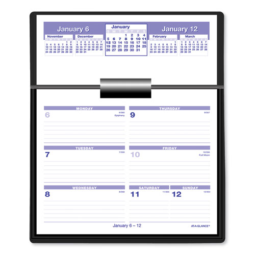 Flip-A-Week Desk Calendar Refill, 5 5/8 x 7, White, 2020 | by Plexsupply