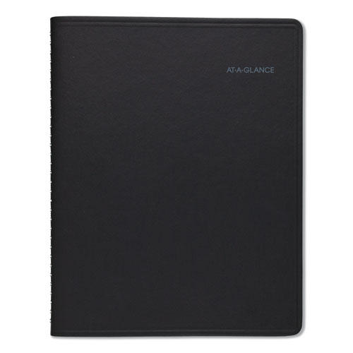 QuickNotes Monthly Planner, 10 7/8 x 8 1/4, Black, 2020 | by Plexsupply