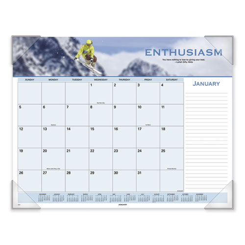 Motivational Panoramic Desk Pad, 22 x 17, Motivational, 2020 | by Plexsupply