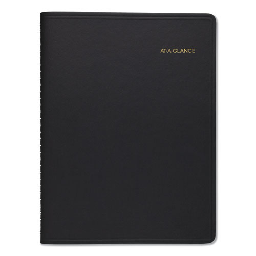 Weekly Appointment Book, 10 7/8 x 8 1/4, Black, 2020-2021 | by Plexsupply