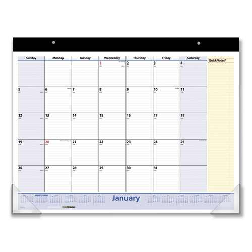 QuickNotes Desk Pad, 22 x 17, 2020 | by Plexsupply
