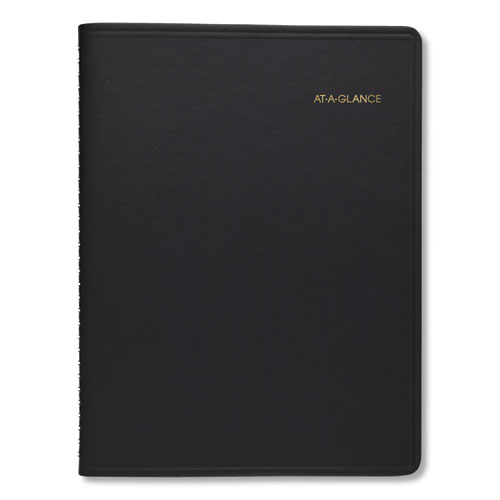 Two-Person Group Daily Appointment Book, 11 x 8, Black, 2021