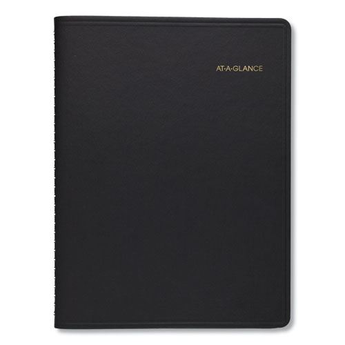 Weekly Planner Ruled for Open Scheduling, 8 3/4 x 6 3/4, Black, 2020 | by Plexsupply