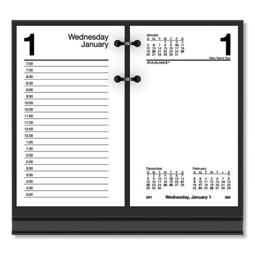 Recycled Desk Calendar Refill, 3 1/2 x 6, White, 2021