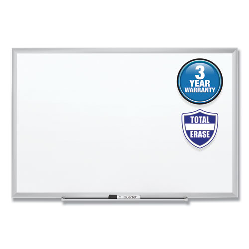 Classic Series Total Erase Dry Erase Board, 72 x 48, Silver Aluminum Frame | by Plexsupply