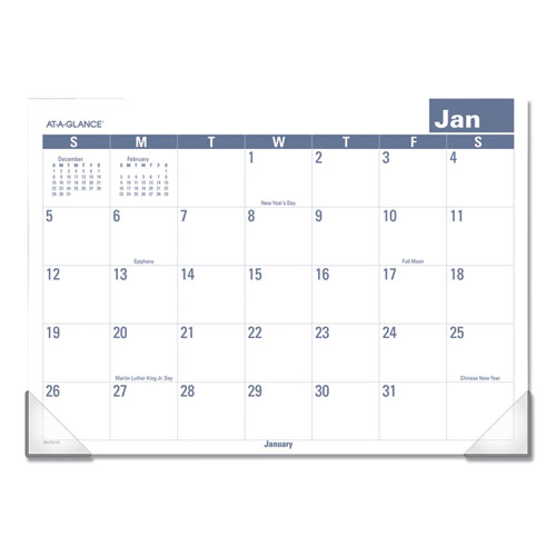Easy-to-Read Monthly Desk Pad, 22 x 17, Easy-to-Read, 2020 | by Plexsupply