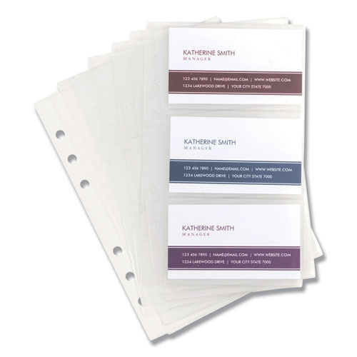 Refill Sheets for 4 1/4 x 7 1/4 Business Card Binders, 60 Card Capacity, 10/Pack   by Plexsupply