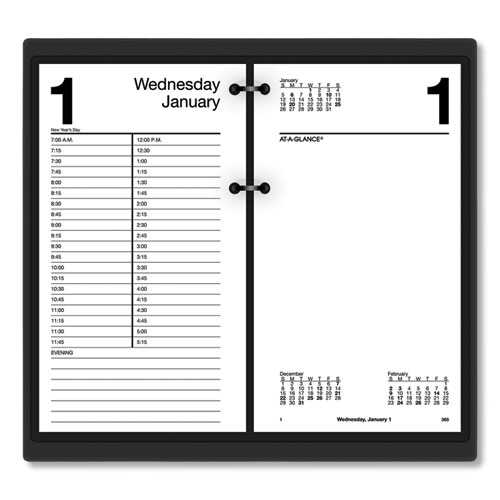 Large Desk Calendar Refill, 4 1/2 x 8, White, 2020 | by Plexsupply