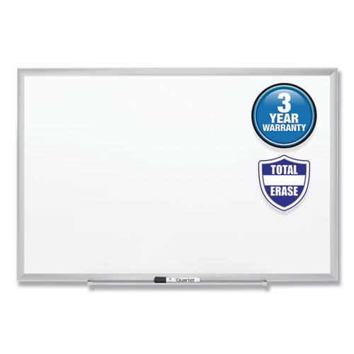 Classic Series Total Erase Dry Erase Board, 48 x 36, Silver Aluminum Frame | by Plexsupply
