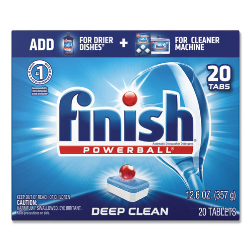 Powerball Dishwasher Tabs, Fresh Scent, 20/Box, 8 Boxes/Carton