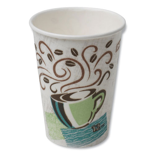 Hot Cups, Paper, 12oz, Coffee Dreams Design, 50/Pack