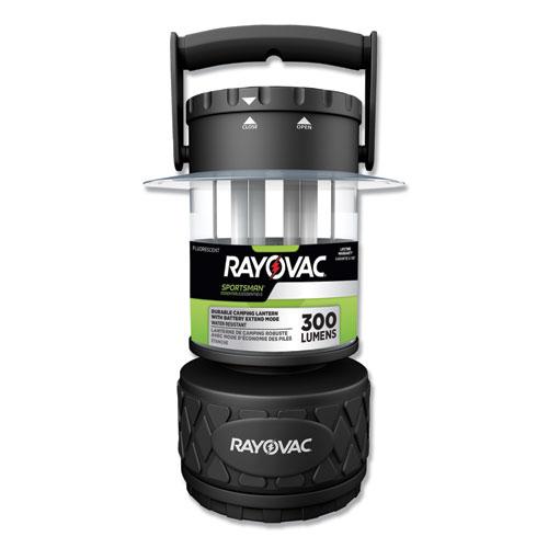 Rayovac® Sportsman Fluorescent Lantern, 8 D Batteries (Sold Separately), Black