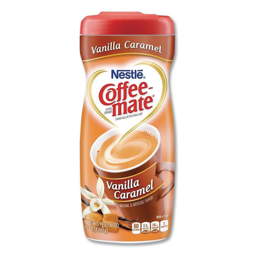Vanilla Carmel Powdered Creamer, 15 oz Canister, 6/Carton