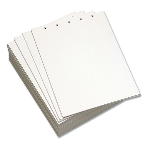 Custom Cut-Sheet Copy Paper, 92 Bright, 5-Hole, 20lb, 8.5 x 11, White, 500/Ream | by Plexsupply