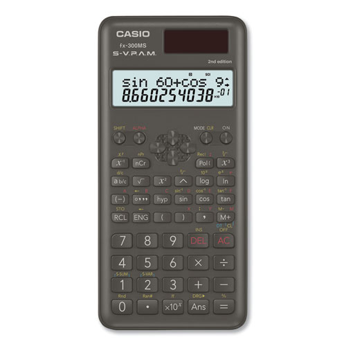 Casio® FX-300MSPLUS2 Scientific Calculator, 12-Digit LCD