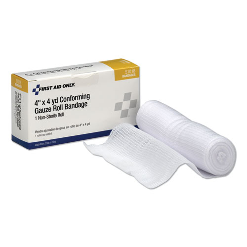 First Aid Conforming Gauze Bandage, 4 wide