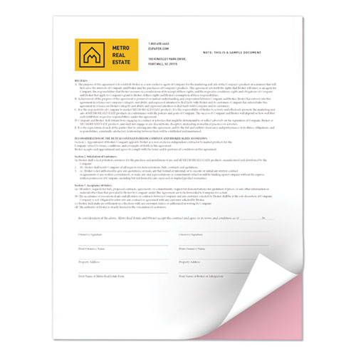 Revolution Digital Carbonless Paper, 2-Part, 8.5 x 11, Pink/White, 5, 000/Carton