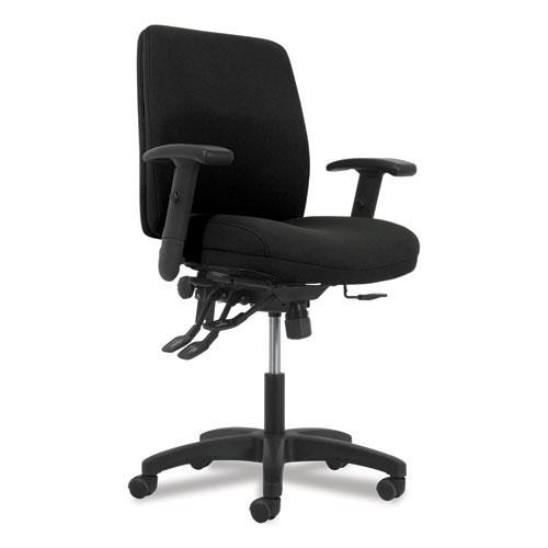 Network Mid-Back Task Chair, Supports up to 250 lbs., Black Seat/Black Back, Black Base